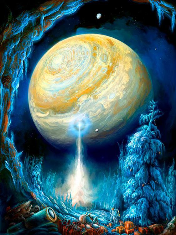 Алмазная вышивка «Фантастический мир планет»