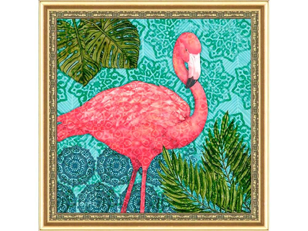Мозаика из пайеток «Экзотический фламинго»