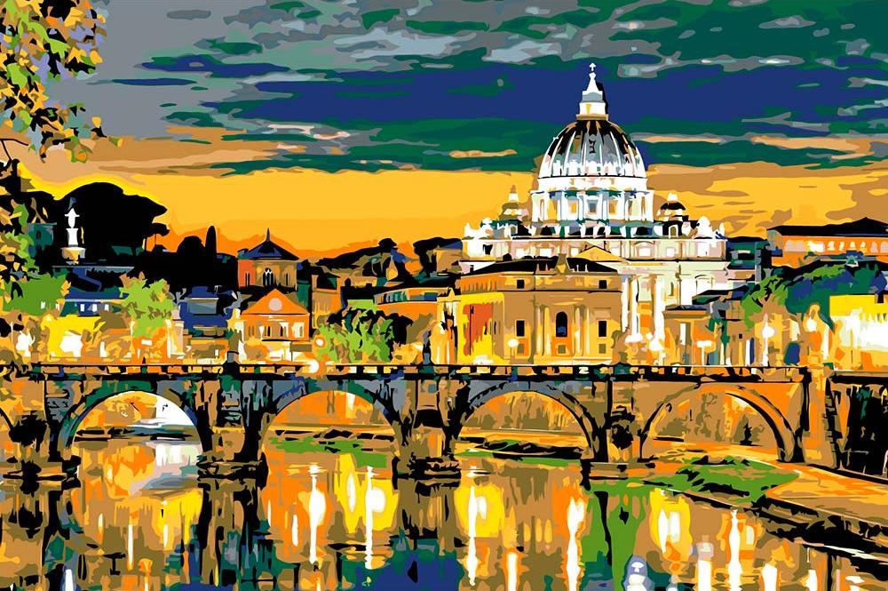Картина по номерам «Вечер в Риме»