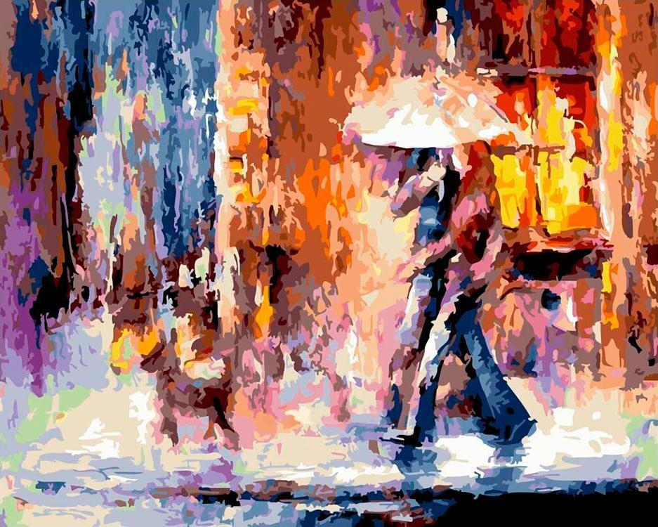 Купить Картина по номерам «Прогулка под дождем» Леонида Афремова, Paintboy (Original)