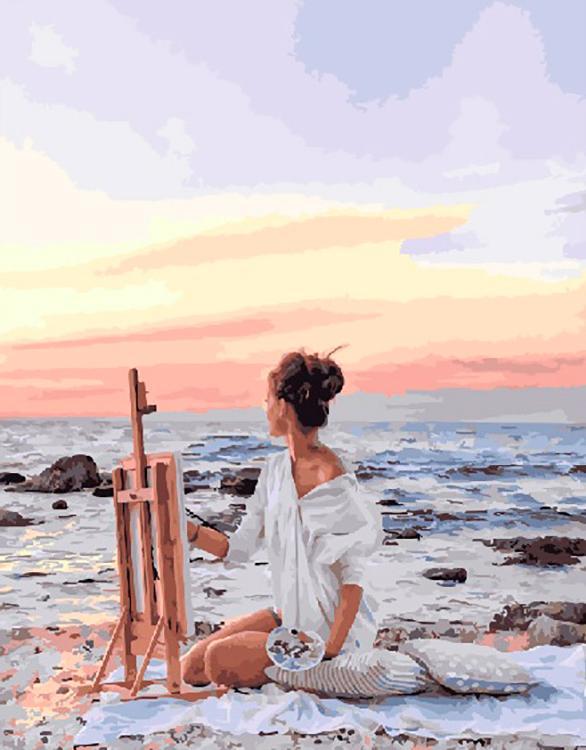 Картина по номерам «Жизнь у моря»