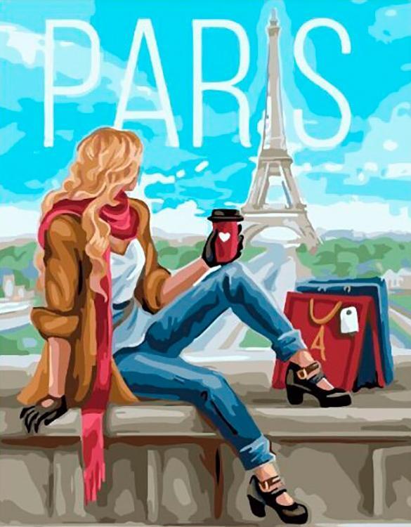 Картина по номерам «Утро в Париже»