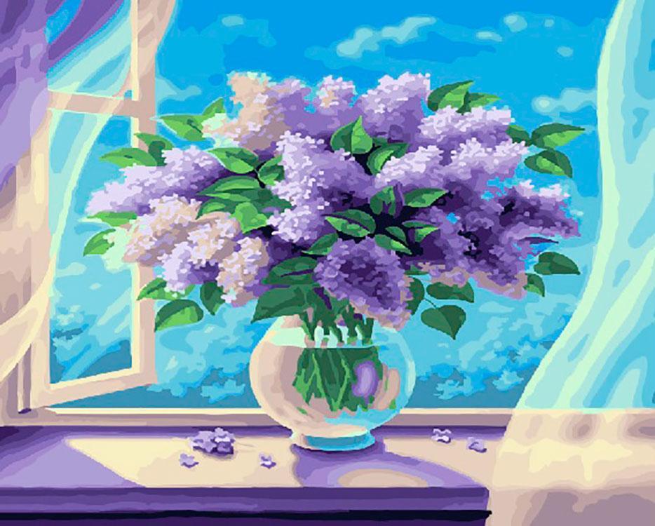 Купить Картина по номерам «Букет сирени» Сергея Ситайлова, Paintboy (Premium), Китай