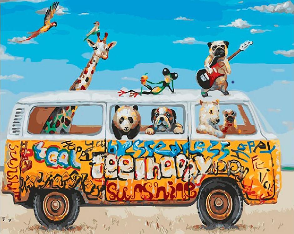 Купить Картина по номерам «Поездка в лето», Paintboy (Premium), Китай