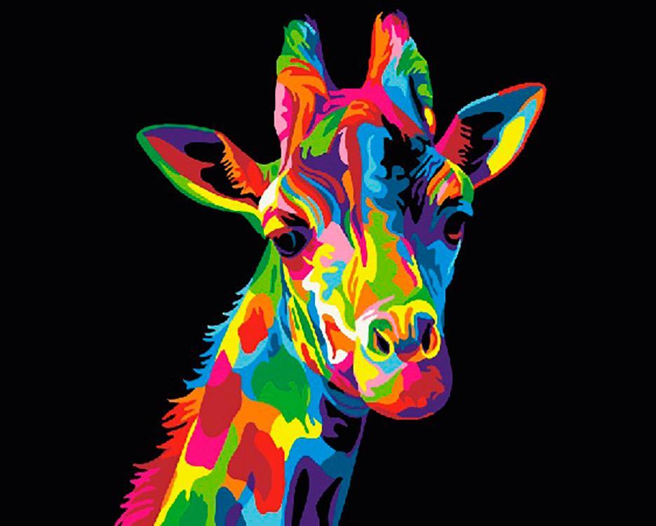 Купить Картина по номерам «Радужный жираф», Paintboy (Premium), Китай, GX26194