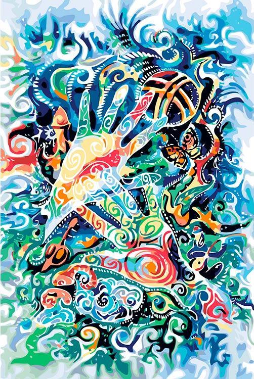 Картина по номерам «Казахский мотив»