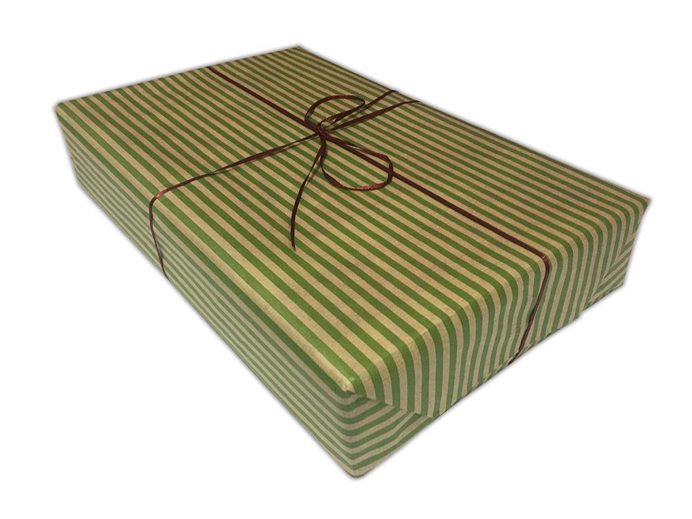 Подарочная упаковка «Полосы светло-зелёные»