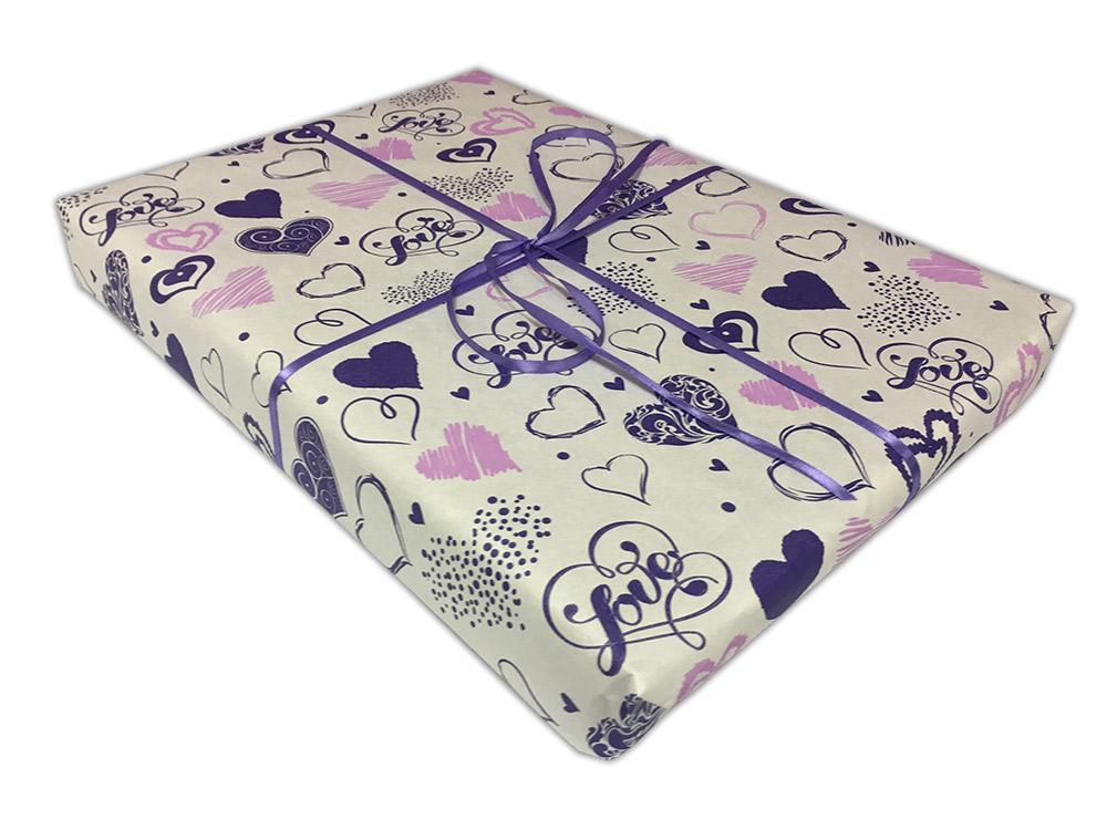 Подарочная упаковка «Сердца»