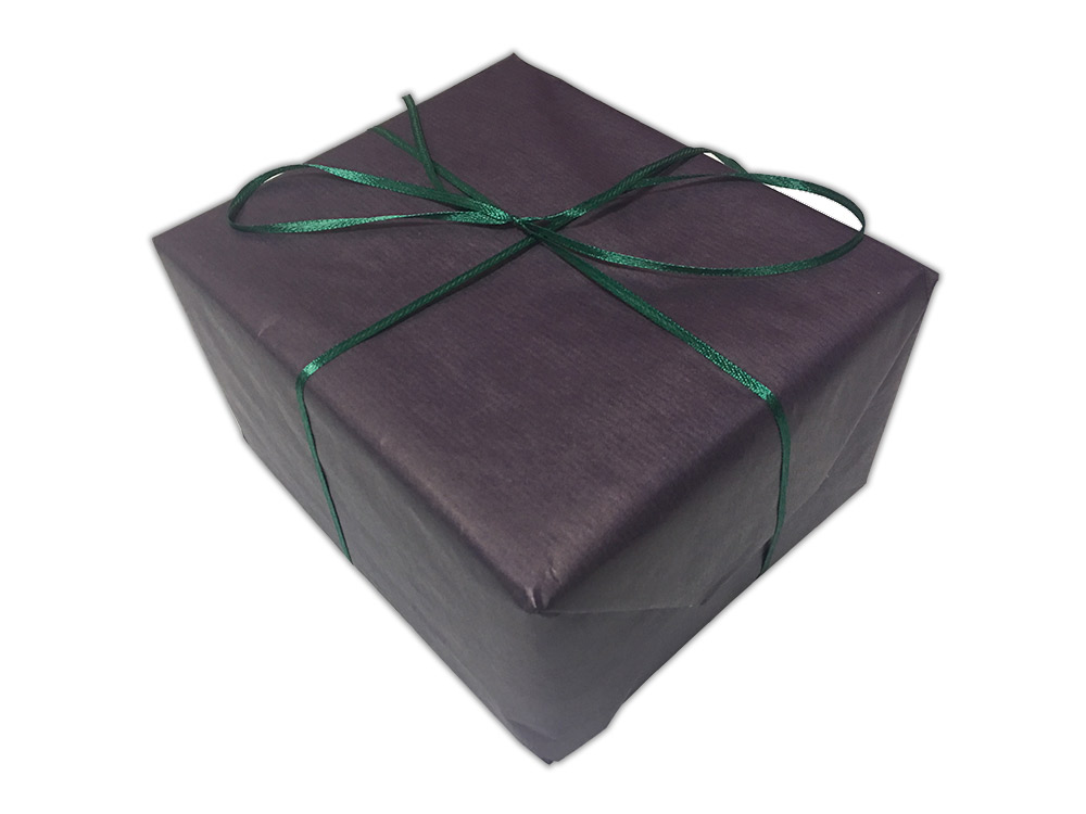 Подарочная упаковка «Фиолетовый крафт»