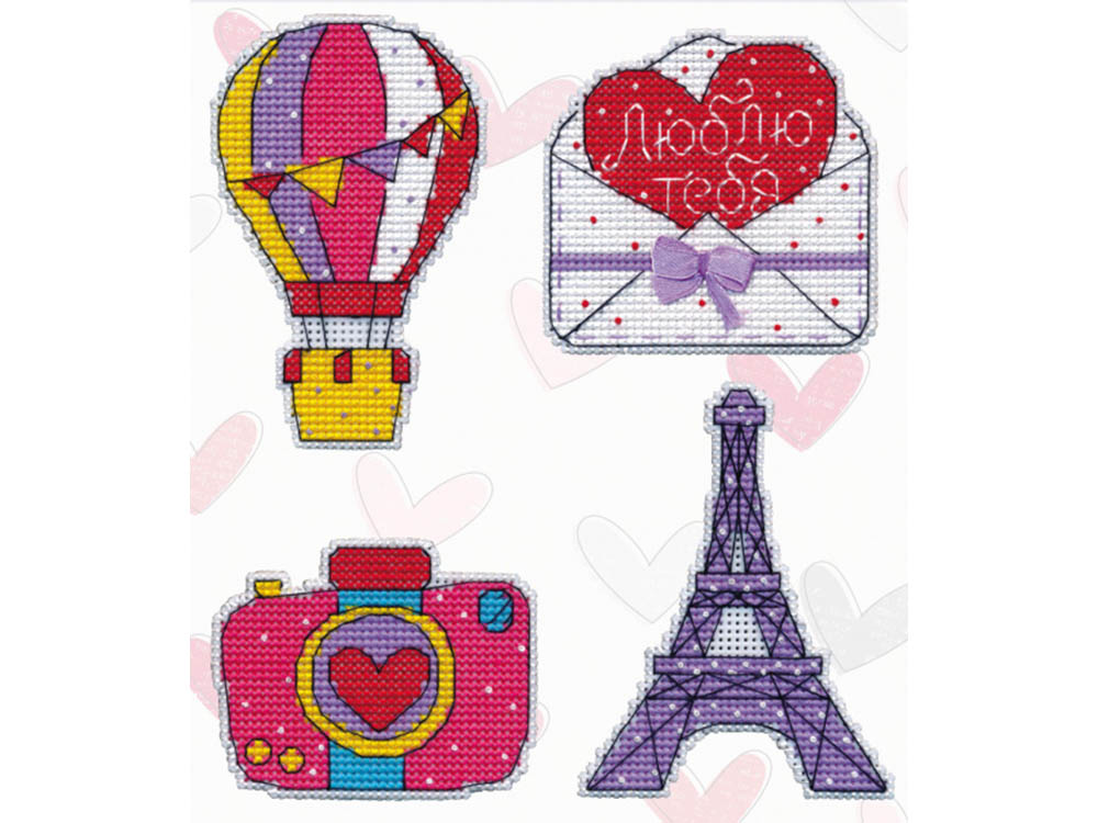 Купить Вышивка крестом, Набор для вышивания «Магнит. Путешествие в Париж», Овен