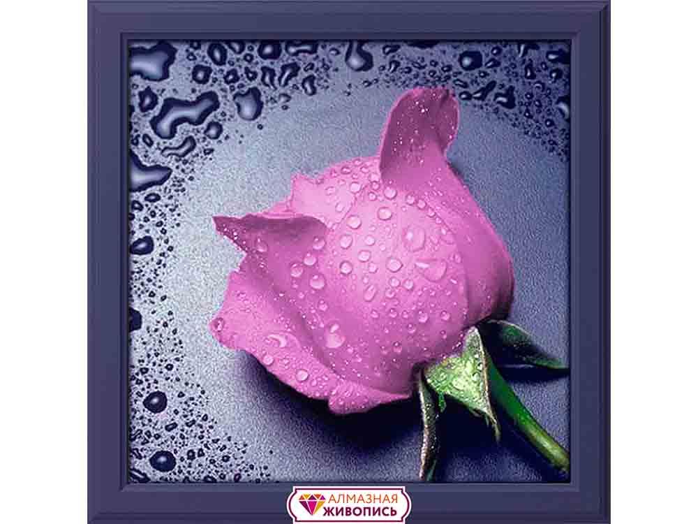 Купить Алмазная вышивка «Розовая роза», Алмазная Живопись, Россия