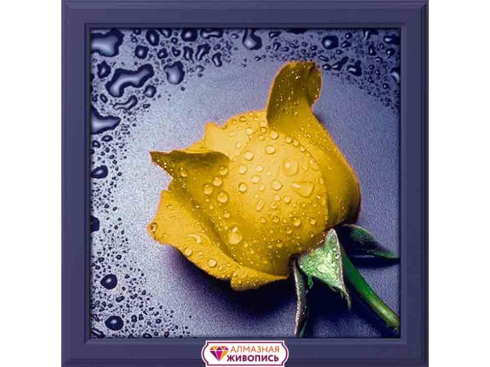 Купить Алмазная вышивка «Желтая роза», Алмазная Живопись, Россия