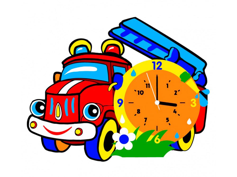 Набор для творчества «Пожарная машина-часы»