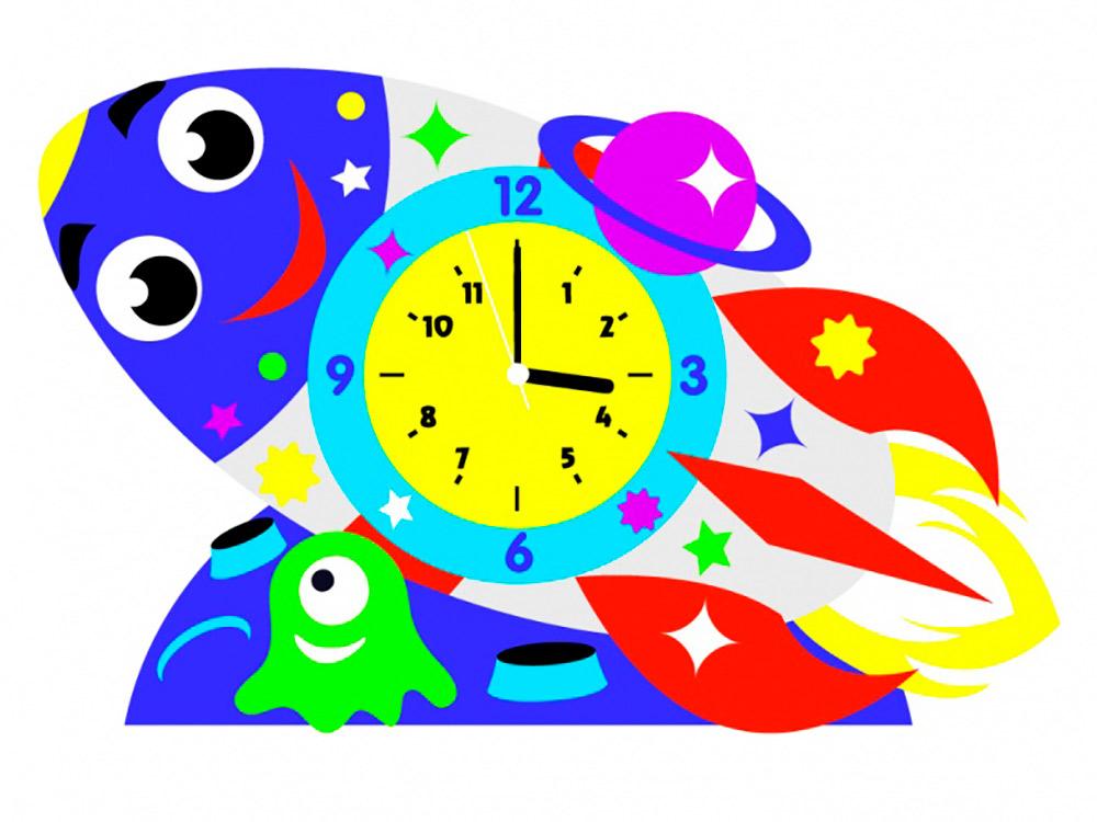 Набор для творчества «Ракета-часы»