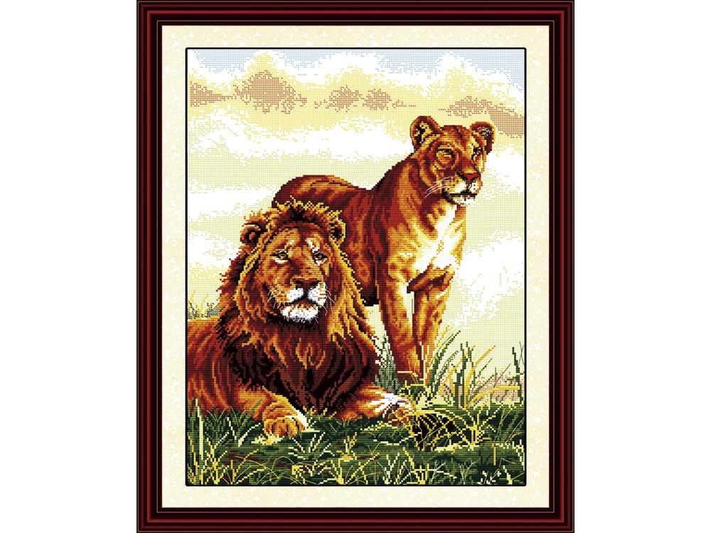 Купить Вышивка крестом, Набор для вышивания «Лев и львица», NKF