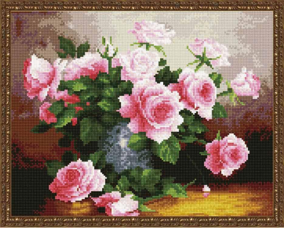 Купить Алмазная вышивка «Букет нежных роз» Юрия Николаева, ВанГогВоМне