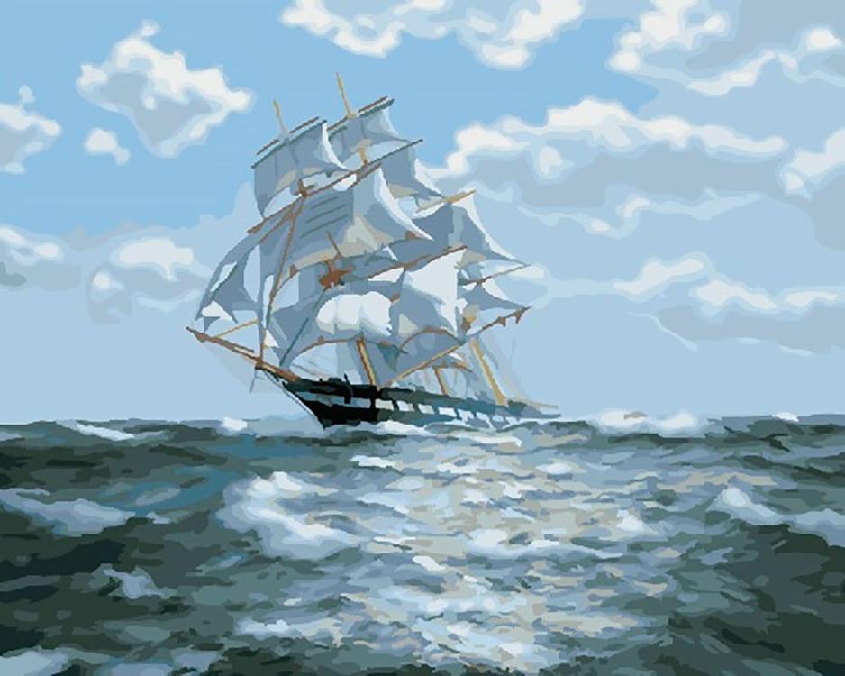 Картина по номерам «На всех парусах» Джеймса Бреретона