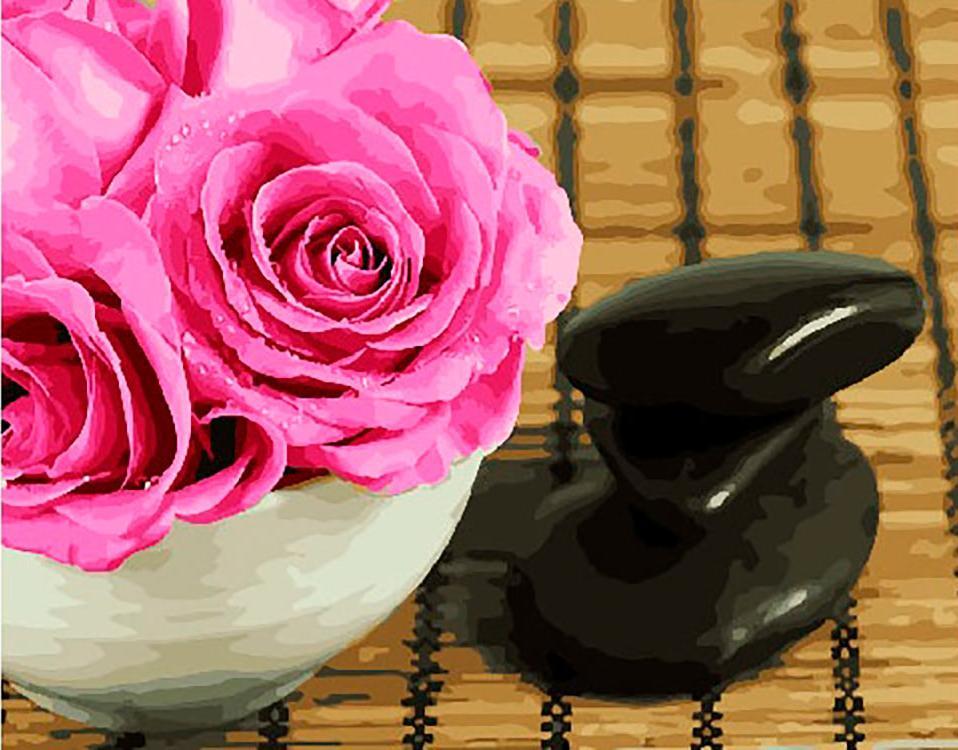 Купить Картина по номерам «Розы на столе», Paintboy (Premium), Китай