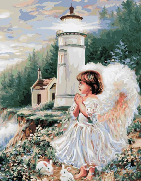 Картина по номерам «Ангел у маяка» Доны Гелсингер