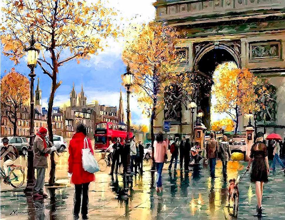 Алмазная вышивка «Мой любимый Париж» фото