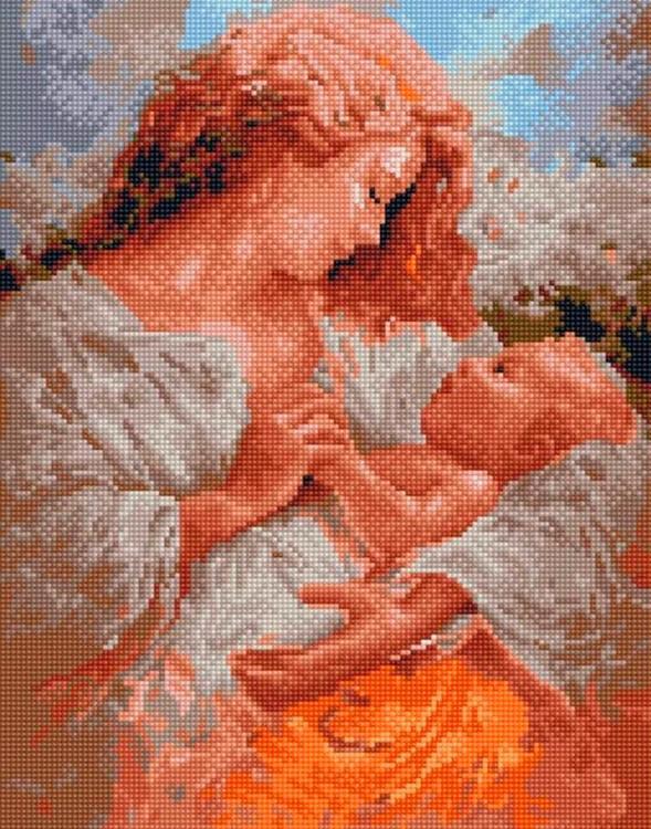 Алмазная вышивка «Радость материнства» Бруно Ди Майо
