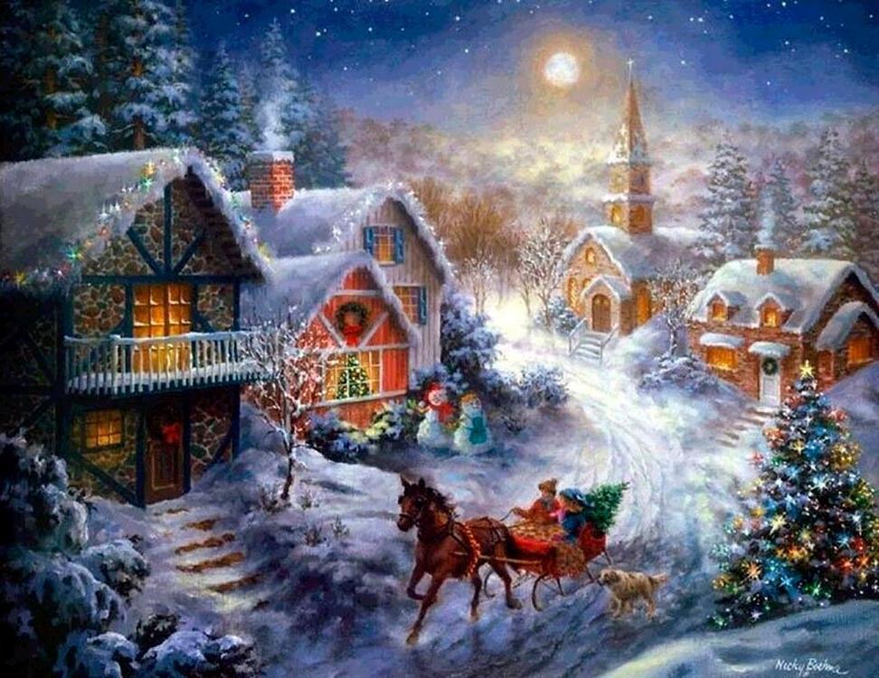 Алмазная вышивка «Рождество» Ники Боэм