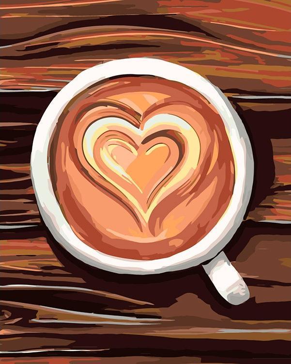 Картина по номерам «Романтический кофе»