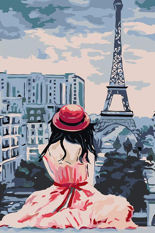Картина по номерам «Однажды в Париже»