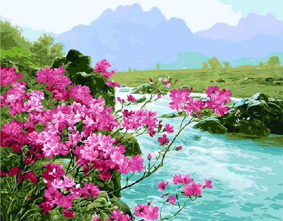 Купить Картина по номерам «Цветущая сакура», ВанГогВоМне