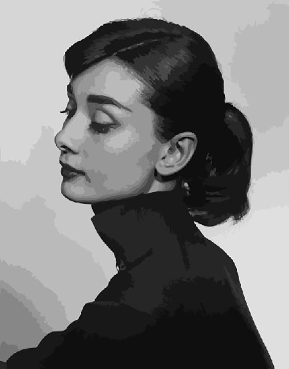 Купить Картина по номерам «Одри Хепберн», ВанГогВоМне