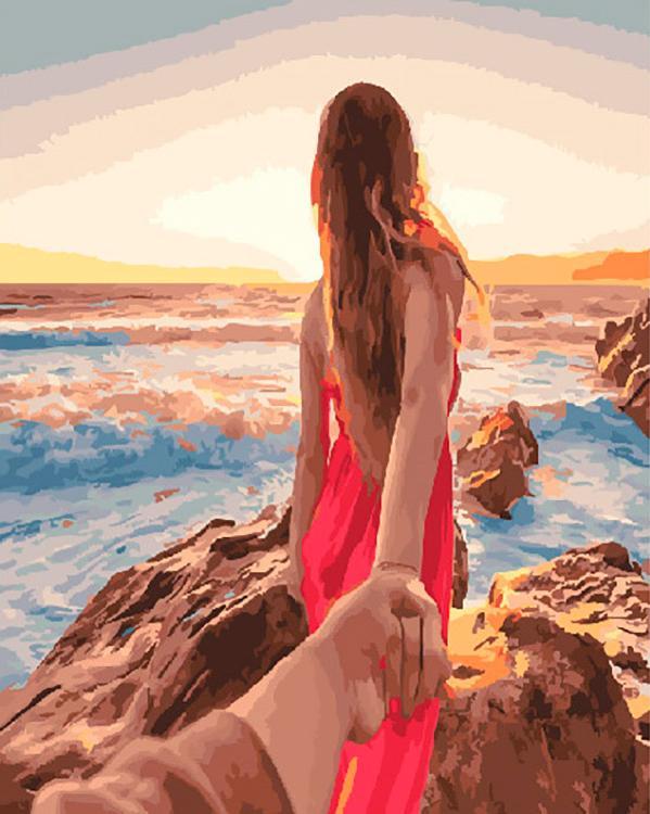 Картина по номерам «Следуй за мной. Море»