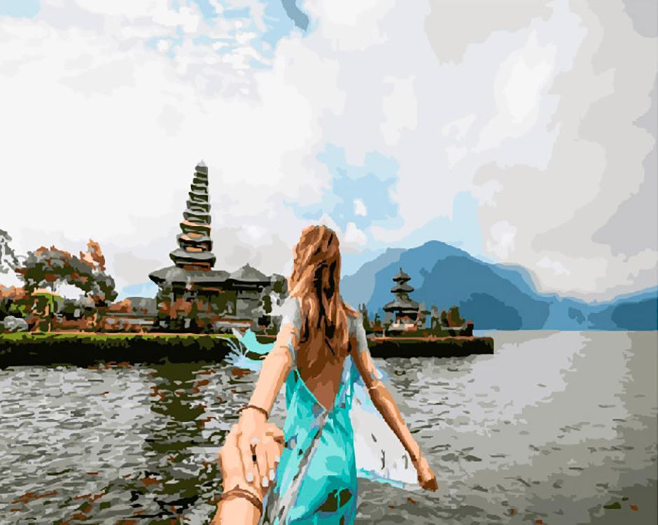 Картина по номерам «Следуй за мной. Бали»