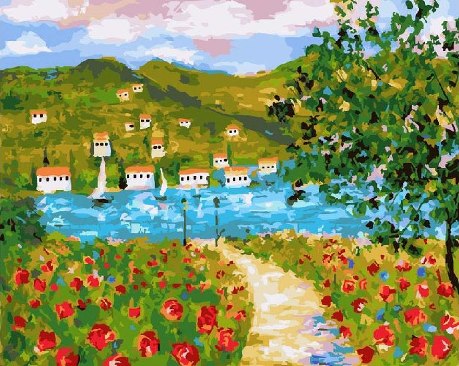 Купить Картина по номерам «Пейзаж. Прованс», ВанГогВоМне