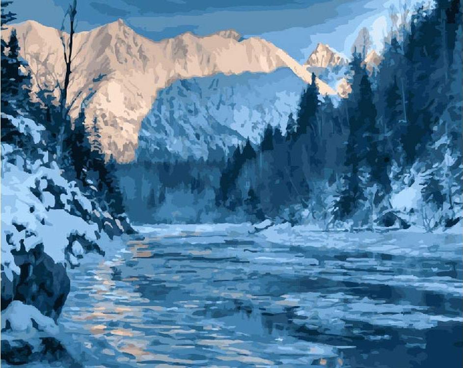Картина по номерам «Аляска зимой», ВанГогВоМне  - купить со скидкой