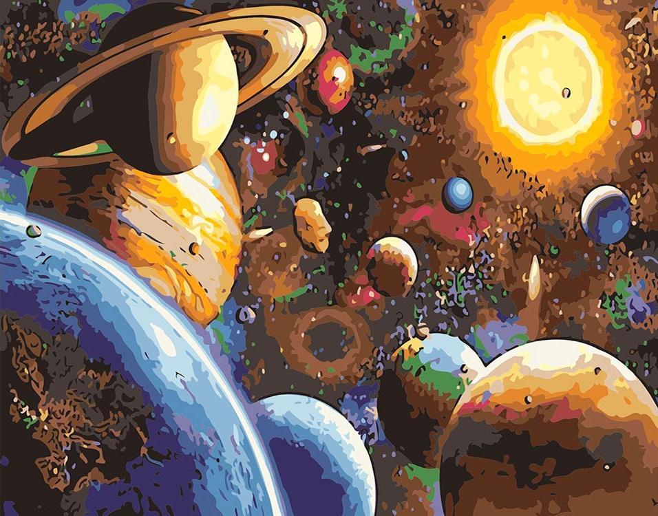 Купить Картина по номерам «Солнечная система», ВанГогВоМне