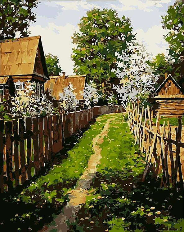 Купить Картина по номерам «Тропинка к дому» Дмитрия Левина, ВанГогВоМне
