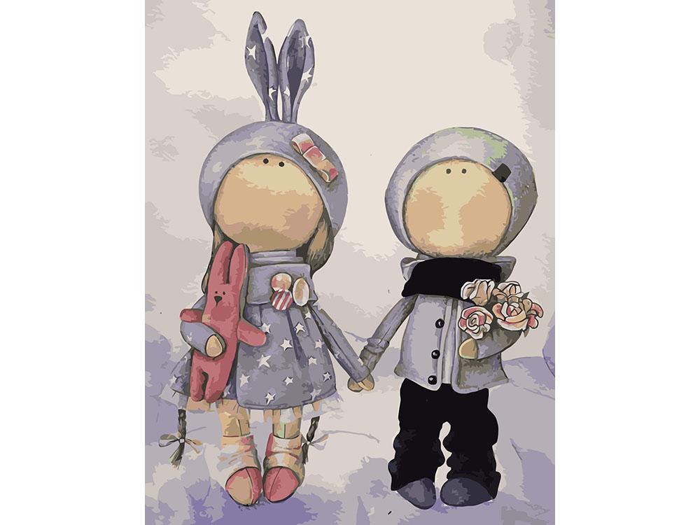 Картина по номерам «Куклы Аня и Ваня»