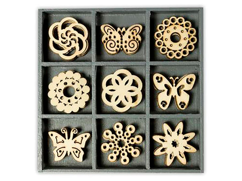 Набор деревянных заготовок для эбру Бабочки (27 шт.), Magic EBRU