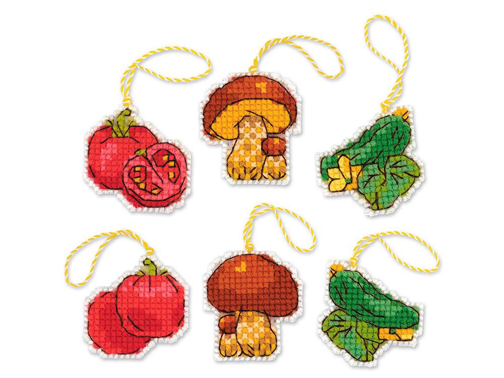 Купить Вышивка крестом, Набор для вышивания «Соленья», Риолис (Сотвори Сама), 5x5 см (3 шт.), 1793АС