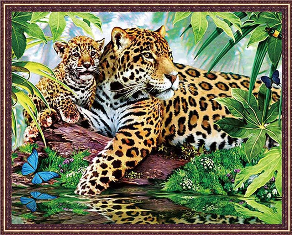 Алмазная вышивка «Леопарды»