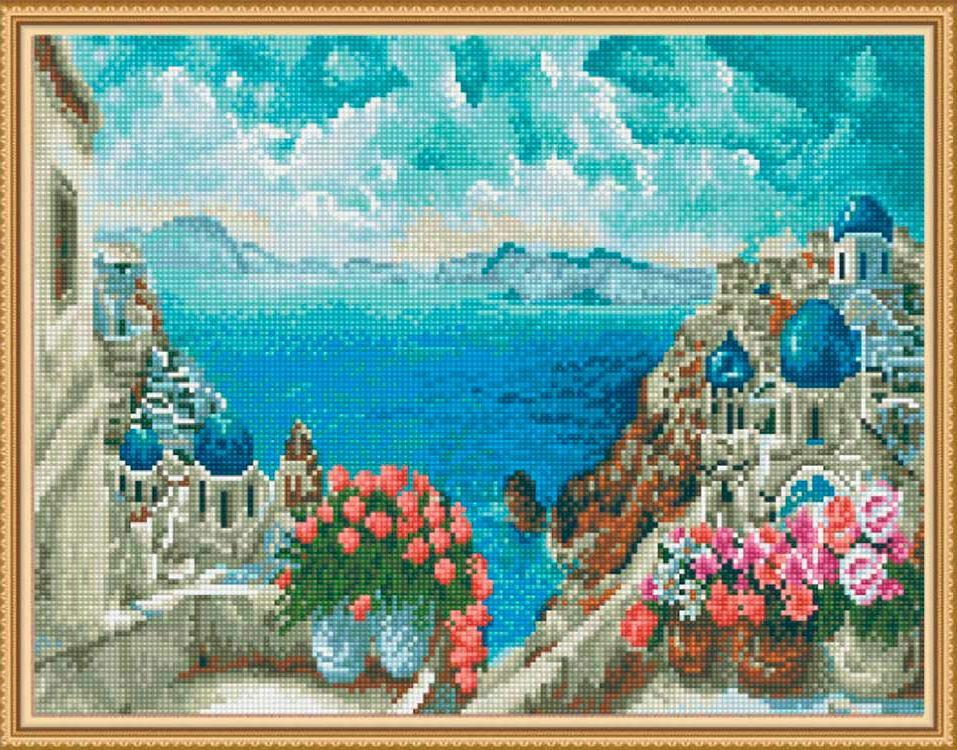 Алмазная вышивка «Море Греции»