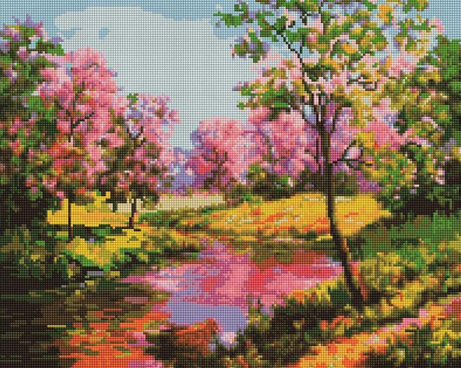 Алмазная вышивка «Яркие краски весны» Марии Гордеевой