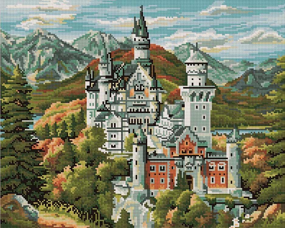 Алмазная вышивка «Замок Нойшванштайн»