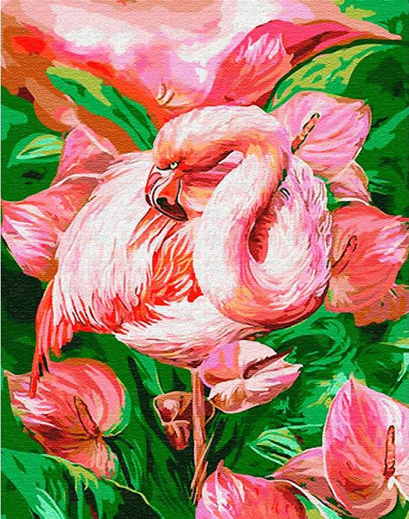 Картина по номерам «Розовый фламинго» Кэрол Каваларис