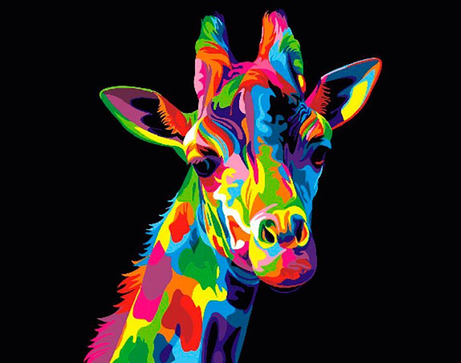 Купить Картина по номерам «Радужный жираф», Paintboy (Premium), Китай, GX27734