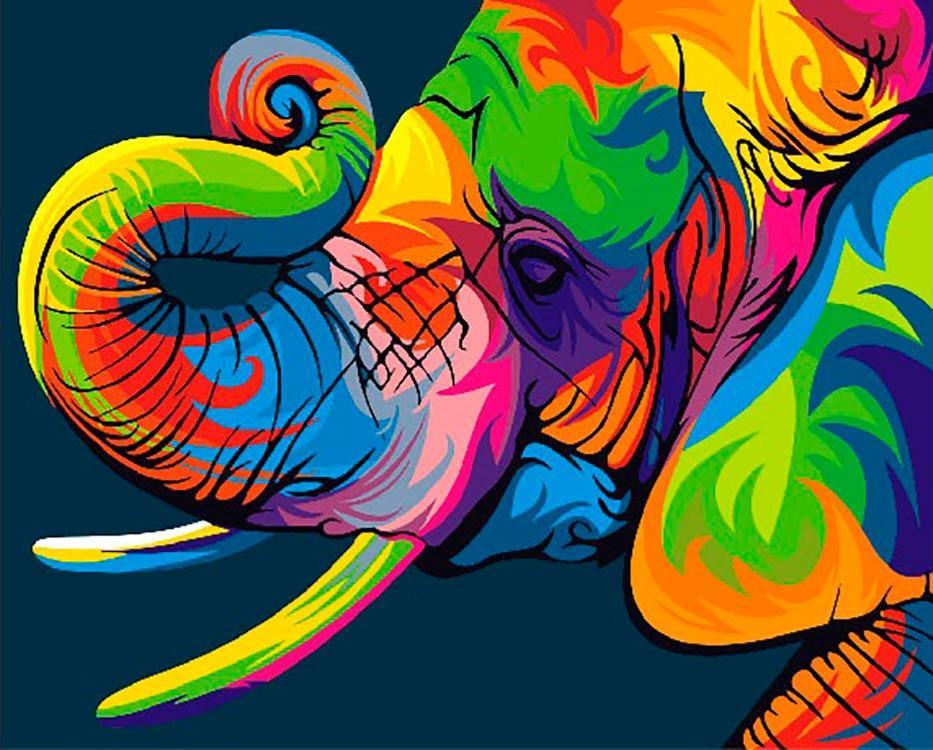Купить Картина по номерам «Радужный слон», Paintboy (Premium), Китай, GX27735