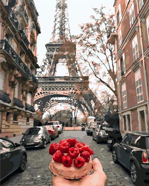 Картина по номерам «Завтрак в Париже»