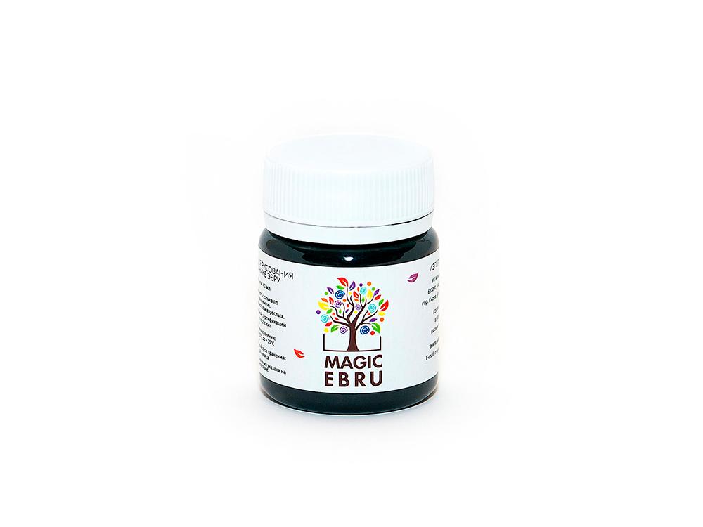 Краска для эбру черная 40 мл, Magic EBRU