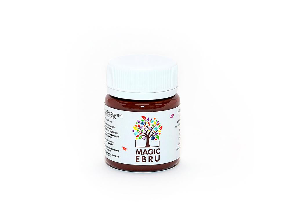 Краска для эбру коричневая 40 мл, Magic EBRU