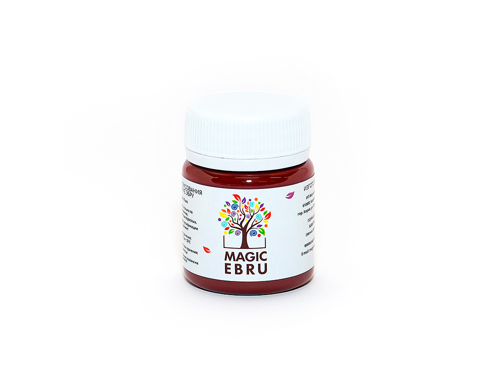 Краска для эбру малиновая 40 мл, Magic EBRU
